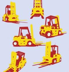 Fork trucks vector