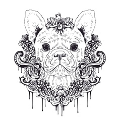 French bulldog graphic dog abstract vector