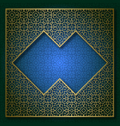 golden cover frame patterned background vector image