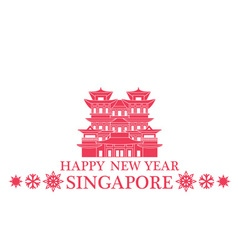 Happy New Year Singapore vector image