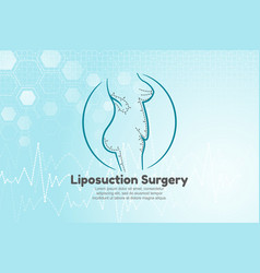 human body for liposuction vector image