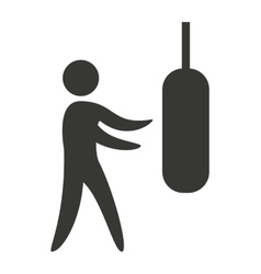 human figure silhoeutte lifestyle sport gym vector image