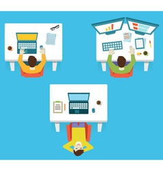 Human resources and hardwork vector image