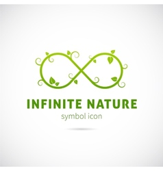 Infinite Nature Concept Symbol Icon or Logo vector