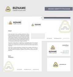Jump road sign business letterhead envelope and vector