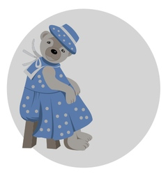 Lady teddy bear vector