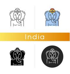 Lord ganesha icon vector