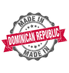 Made in dominican republic round seal vector