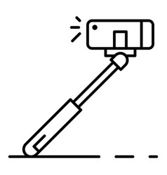 modern selfie stick icon outline style vector image