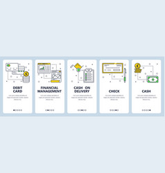 modern thin line debit card vertical web vector image