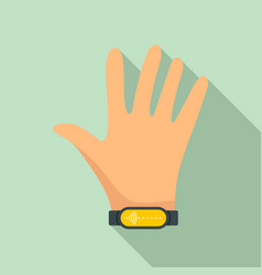 nfc wrist band icon flat style vector image