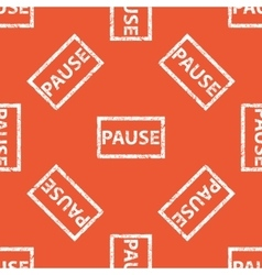 Orange pause stamp pattern vector