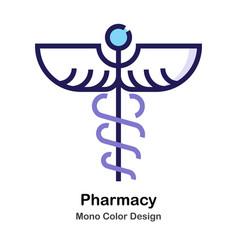 Pharmacy mono color icon vector