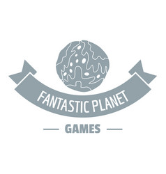 planet game logo simple gray style vector image