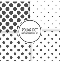 polka dot seamless pattern background set black vector image