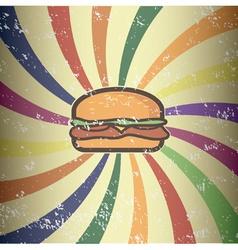 Retro hamburger design vector