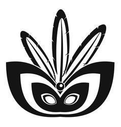 Rio festive mask icon simple style vector