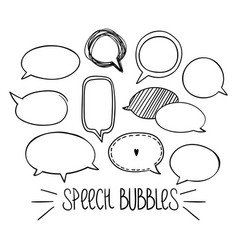 round speech bubbles 2-01 vector image