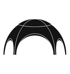 Round tent icon simple style vector