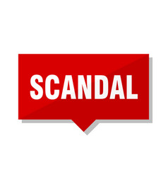 Scandal red tag vector