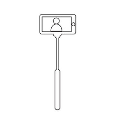 selfie stick icon design vector image