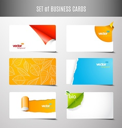 Set of 6 type of creative business cards vector
