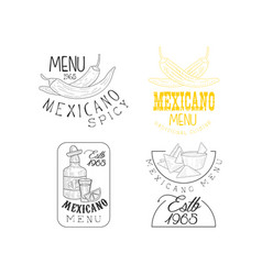 set of creative emblems for traditional vector image