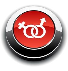 Sex 3d round button vector image