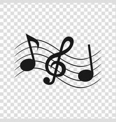 sheet music2 vector image