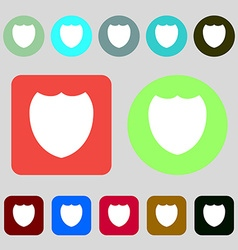 Shield sign icon Protection symbol 12 colored vector image