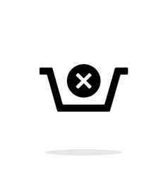 Shopping basket delete simple icon on white vector