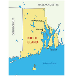 state rhode island and providence plantations vector image