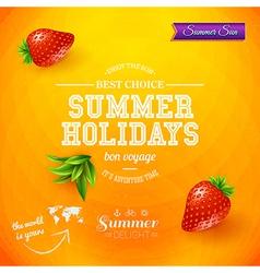 Summer design Bright poster for summer holidays vector image