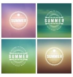 summer holidays retro typography set vector image