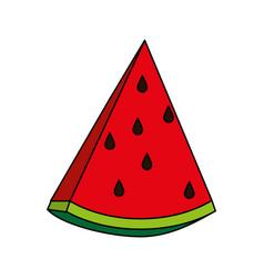 sweet fruit watermelon vector image