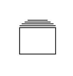 tabs icon vector image