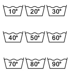 temperature sign for washing vector image