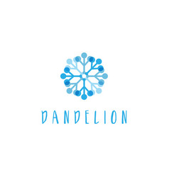 template concept flat logo icon dandelion vector image