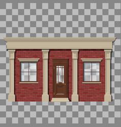 traditional small shop facade vector image
