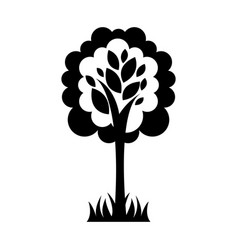 tree plant ecological icon vector image