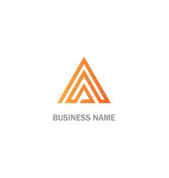 triangle line abstract company logo vector image