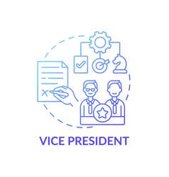 Vice president concept icon vector