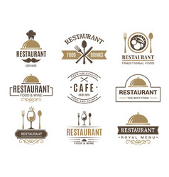 vintage logotypes and various symbols for design vector image