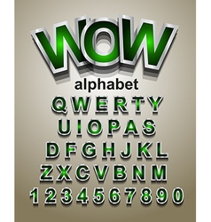 Christmas Alphapet Font to use for childrens vector image vector image