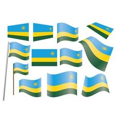flag of Rwanda vector image vector image