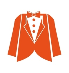 suit gentleman isolated icon vector image