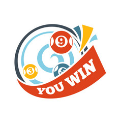 bingo lotto win lottery lucky numbers icon vector image vector image