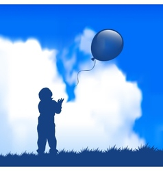 Child with a balloon vector image