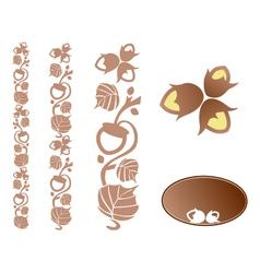 Hazelnut ornament vector image vector image