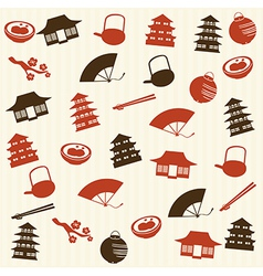 Japanese seamless pattern 2 vector image vector image
